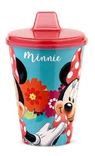 Copo Infantil Com Bebedor Rígido Rosa Minnie 430ml - Lillo