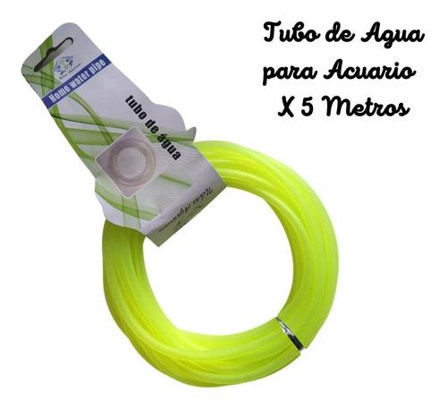 Tubo Para Acuario X 5 Metros, De Agua, Manguera. Entrega Ya!
