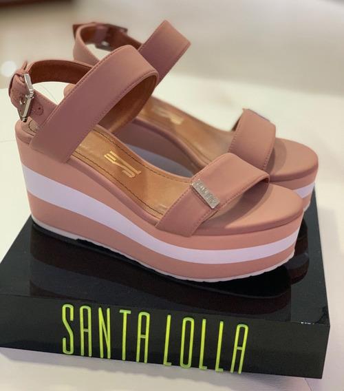 Sandália Anabela Santa Lolla