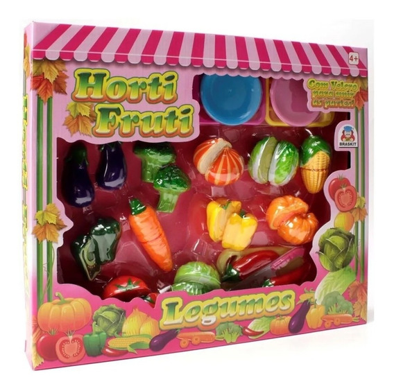 Horti Fruti Legumes Comidinha De Brinquedo Frutas - Yupitoys