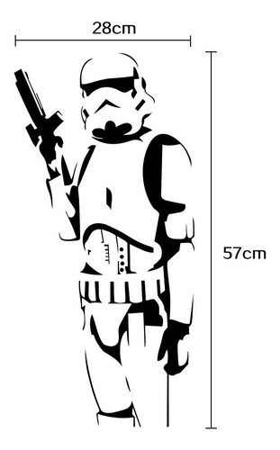 Star Wars Stormtrooper  Sticker Pegatina Vinilo Pared Vader