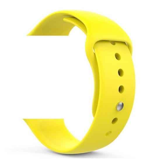 Pulseira Amarela Relógio Apple Watch 38/40/42/44m + Película