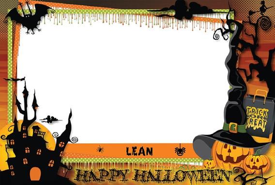 Cartel De Firmas Halloween Personalizado - Sobre Carton
