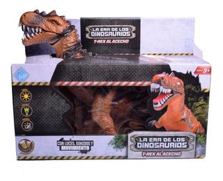 Dinosaurio T-rex Con Luz Sonido Y Movimiento El Duende Azul