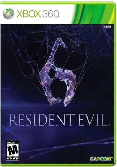 Jogo Resident Evil 6 Xbox 360 Midia Fisica Original