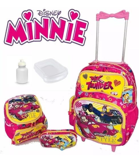 Kit Mochila Infantil Rodinha Minnie + Estojo Lançamento !!!