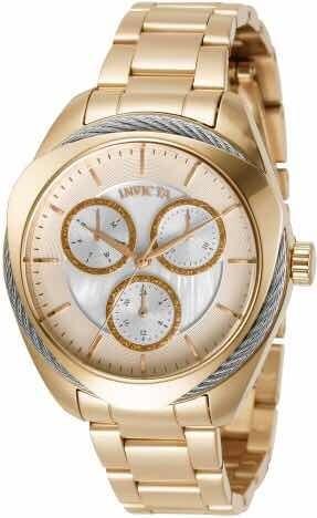 Relógio Invicta Bolt Ouro Original 31226-12x Sem Juros+frete