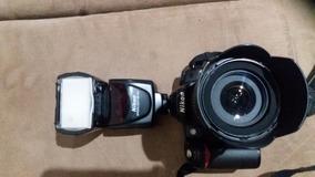 Camera Nikon D80 Lente 18-105 Com Flash Sb 700 E Bolsa Nova