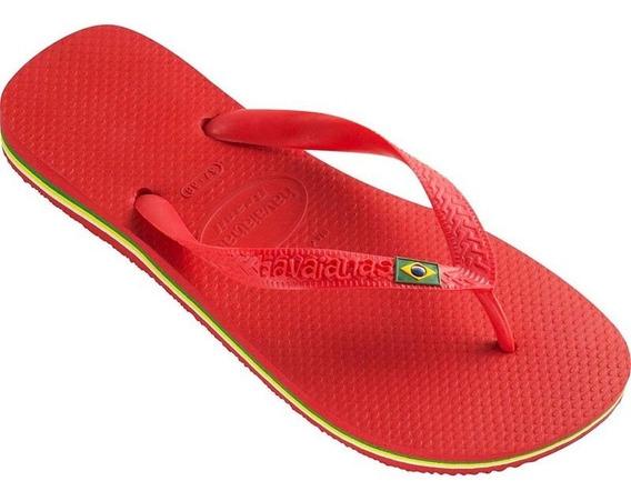 Ojotas Havaianas X 12 Pares!! Modelo Brasil Vermelho
