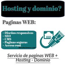 Paginas Web, Hosting Y Dominio