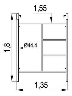 Andamio Apilable Reforzado 2,5 X 1,8 X 1,3