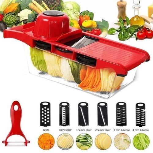 Rebanadora De Vegetales Verduras Cortadora Frutas Picador