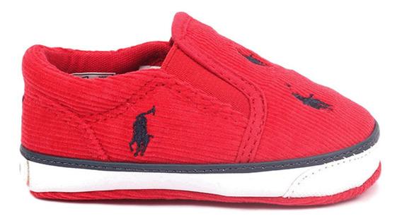 Tenis Polo Ralph Lauren Para Bebe Color Rojo Fuego