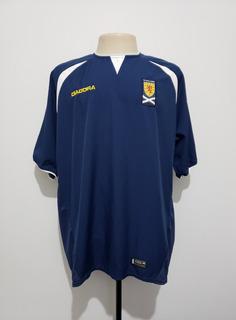 Camisa Futebol Oficial Seleção Escócia 2003 Home Diadora Xxl