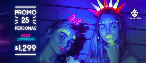Promo Cotillon Luminoso 25 Personas Increible!