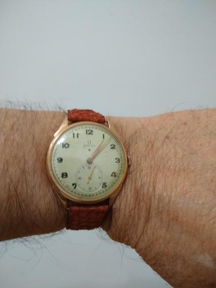 Relógio Omega Estrela Vermelha Caixa Em Ouro 18k.
