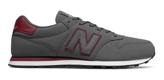 Tênis New Balance 500 Casual Masculino Cinza