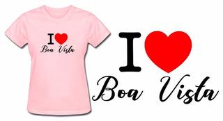 Camiseta Baby Look Feminina Rosa Turismo Boa Vista Roraima