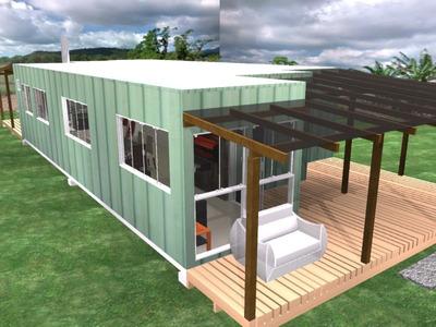 Casa Container 3 Quartos , Casa Pre Fabricada, Casa Conteine