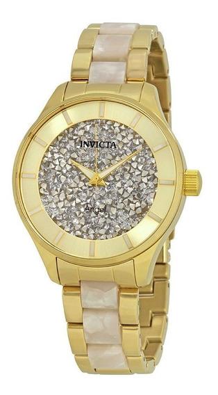 Relógio Invicta 24666 Feminino Angel Banhado Ouro Original