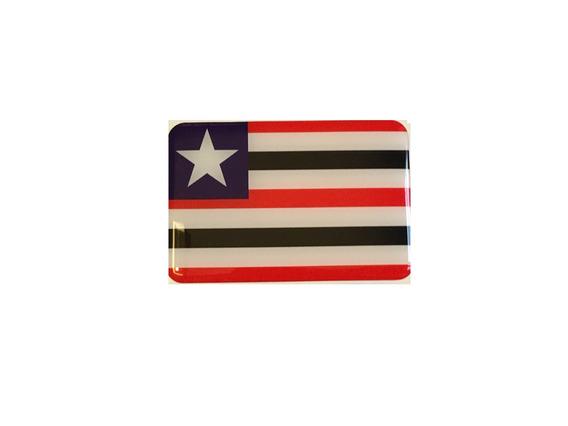 Adesivo Resinado Da Bandeira Do Maranhão 9x6 Cm