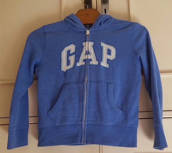 Buzo Gap Campera Cierre Y Capucha Original, Azul, 6 - 7 Años