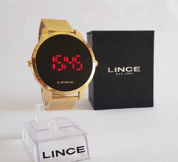 Relogio Lince Dourado Led Digital Esteira Unissex Mdg4586l
