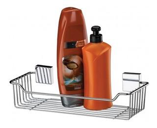 Porta Shampoo Sabonete Suporte Parede Aço Inox 7501 Future