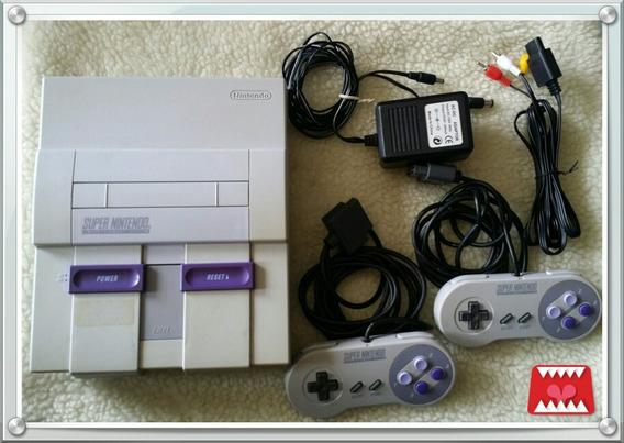 Console Completo Super Nintendo Fat Snes + 2 Cartuchos
