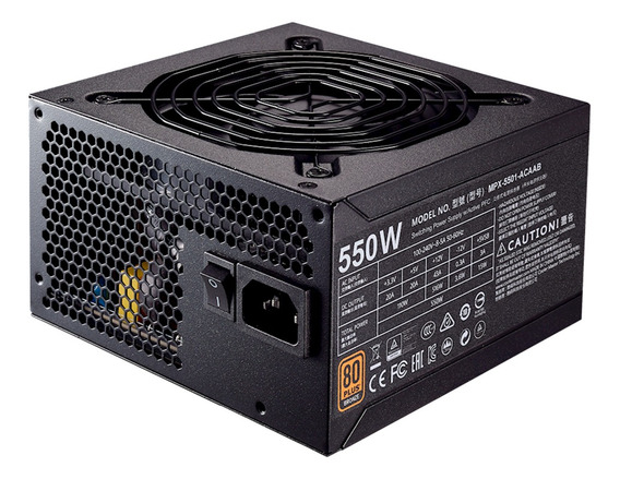 Fonte Atx 550w 80plus Bronze Cooler Master Mpx-5501-acaab-wo