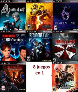 Pack Resident Evil 4,5,6,etc+ King Of Fighters 13 Gold Ps3