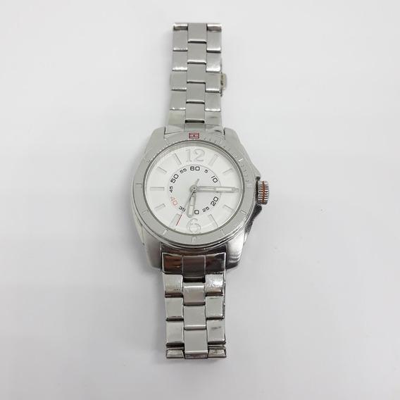 Relógio Tommy Feminino Fundo Branco Inox