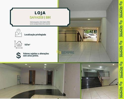 Imagem 1 de 18 de Loja Para Alugar, 187 M² - Savassi - Belo Horizonte/mg - Lo0058