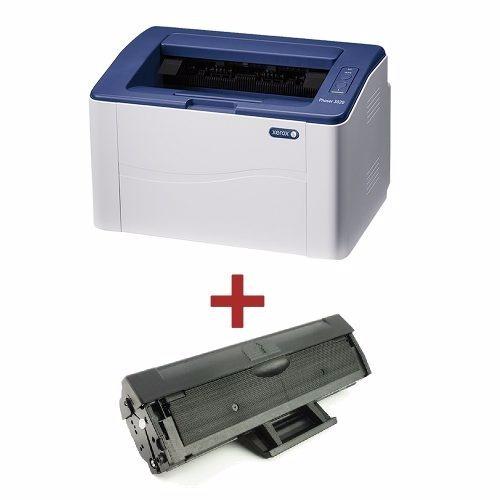 Combo Impresora Laser B/n Xerox 3020 + Toner Original Extra