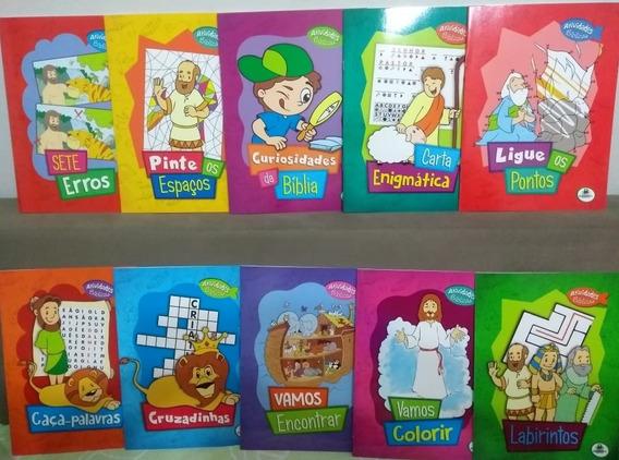 Livro Infantil - Atividades Bíblicas Kit Com 10 Livros