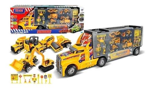 Camión Valija Juguete C/6 Camioncitos De Colección !!!