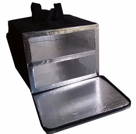 Mochila Bolsa Pizza 40cm Lanches 2 Divisórias Alumínio Bpal