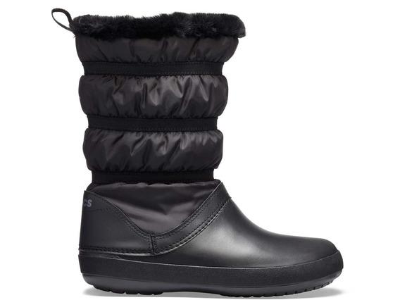 Bota Crocs Dama Winter Poof Boot Azul Negro