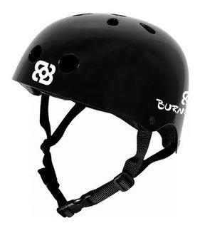 Capacete Bob Burnquist Coquinho Preto P Skate Patins Atrio