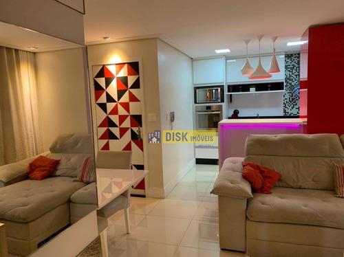 Apartamento Com 2 Dormitórios À Venda, 65 M² Por R$ 350.000,00 - Nova Petrópolis - São Bernardo Do Campo/sp - Ap1509