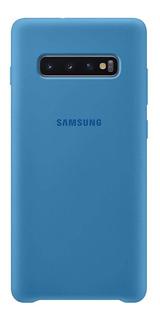 Capa Protetora Silicone Samsung S10 Plus Azul