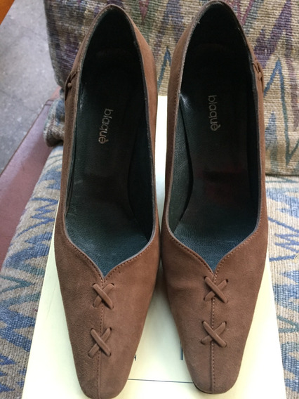 Zapato Mujer Blaqué Gamuza Hermoso 35 Nuevo