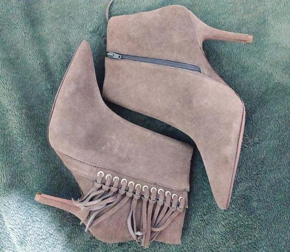 Ankle Boot Couro Corello Tamanho 37 Com Etiqueta