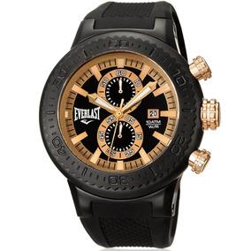 Relógio Everlast Masculino Preto Analógico E585