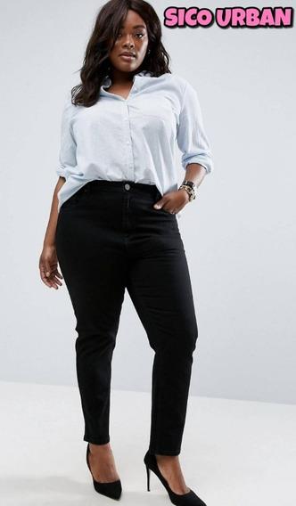 Pantalón Jeans Chupin Elastizados Damas X10 - Talles Grandes