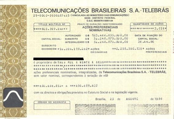 Apólice Telecomunicações Brasileiras S.a. - Telebrás 1980 Ap