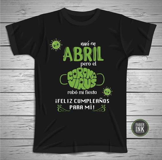 Playera De Cumpleaños Personalizada (abril)