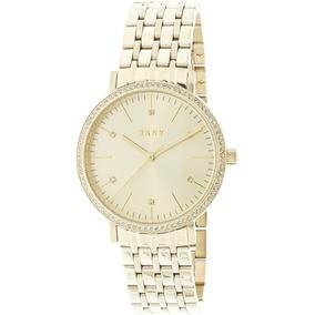 18ee0ee2ae99 Reloj Dkny Para Mujer Ny2607 Tono Dorado Brazalete Y Caja