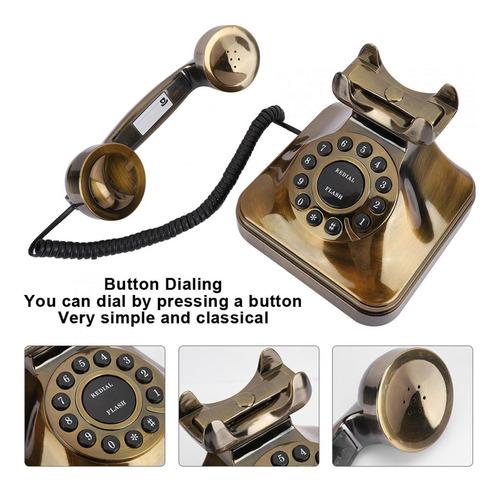 Teléfono Antiguo De Bronce Teléfono Antiguo Para Casa Ofic