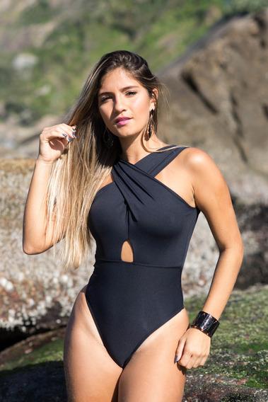 Body Feminino/ Maiô Decote Invertido Florença Bojo Removivel